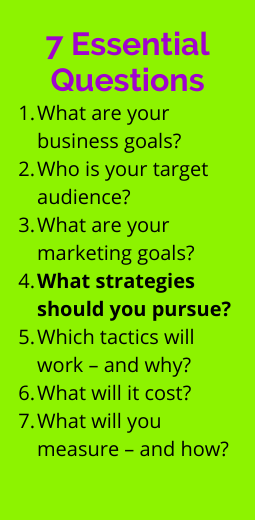 7 essential questions for marketing planning